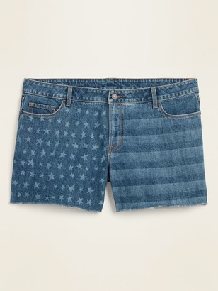 Old Navy High-Waisted Secret-Slim Pockets Americana Plus-Size Cut-Off Jean Shorts -- 5-inch inseam