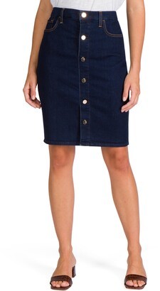 JEN7 by 7 For All Mankind Button Front Denim Pencil Skirt