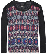 Maison Scotch Photo-Printed Long Sleeve T-Shirt