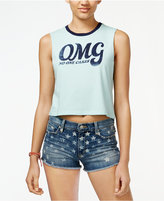 Hybrid Juniors' OMG Graphic Crop Tank