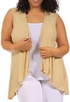 24/7 Comfort Apparel Sleeveless Shrug Vest-Plus