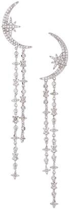 Eye Candy La Luxe Silvertone Cubic Zirconia Half Moon Drop Earrings