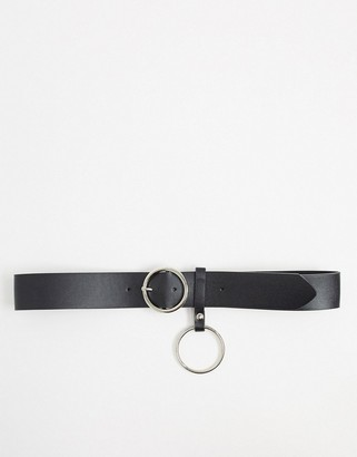 Johnny Loves Rosie Belt with detail in black