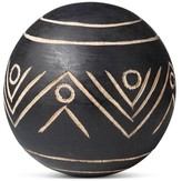 Threshold Carved Wood Ball - Large