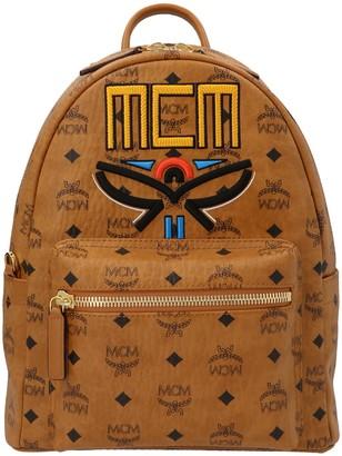 MCM Visetos Logo Embroidered Backpack
