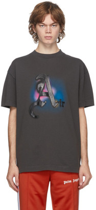 Palm Angels Black Garment-Dyed Air Boxy T-shirt