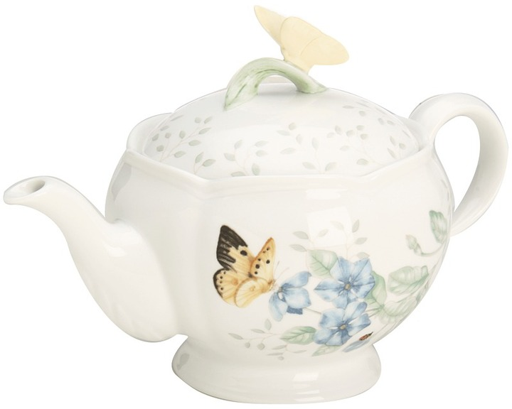 Lenox Butterfly Meadow Teapot with Lid (White) - Home