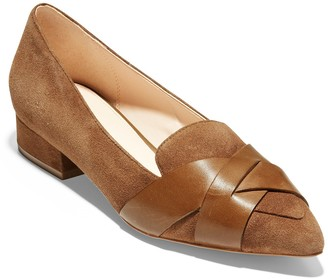 Cole Haan Camila Suede Leather Skimmer Flat
