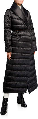 Max Mara Novela Shawl-Collar Long Belted Quilt Coat
