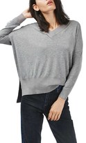 Topshop Women's Slouchy V-Neck Sweater