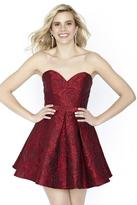 Jolene Collection - 17565 Floral Sweetheart Pleated A-line Dress
