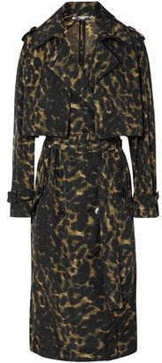 Stella McCartney Leopard-print Shell Trench Coat