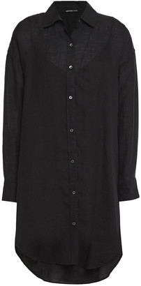 James Perse Linen Mini Shirt Dress