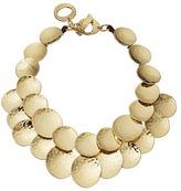 Robert Lee Morris Hammered Gold Disc Frontal Necklace