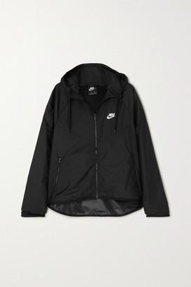Nike Windrunner Hooded Printed Shell Track Jacket - Black