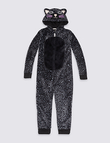 Marks and Spencer Animal Print Hooded Onesie (1-16 Years)
