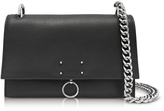 Jil Sander Black Leather Small Ring Shoulder Bag