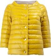 Herno reversible cropped sleeve jacket