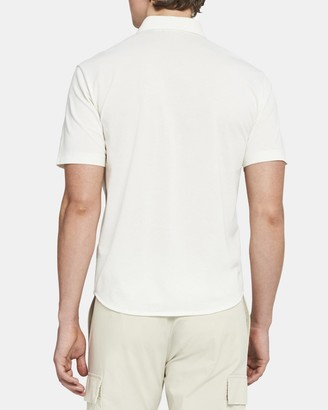 Theory Fairway Shirt in Luxe Cotton Pique