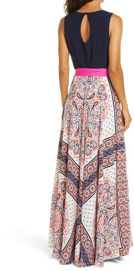 Thumbnail for your product : Eliza J Paisley Maxi Dress