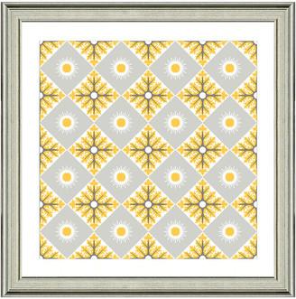 Vintage Print Gallery Exotic Opulent Tiles V Framed Graphic Art