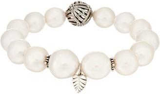 Stephen Dweck Sterling Silver Cultured Pearl Stretch Bracelet