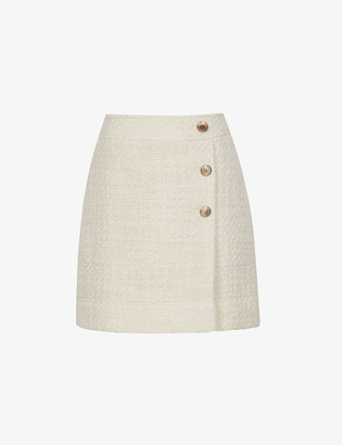 Reiss June boucle wool-blend mini skirt