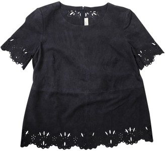 BA&SH Anthracite Suede Top for Women