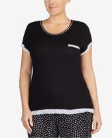 Layla Plus Size Ruffle-Trim Pajama Top