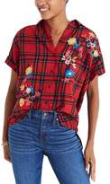 Madewell Women's Central Embroidered Plaid Shirt
