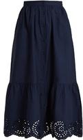 Mes Demoiselles Clem button-down cotton skirt