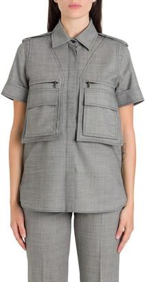 Max Mara Twill Shirt With Maxi Pockets