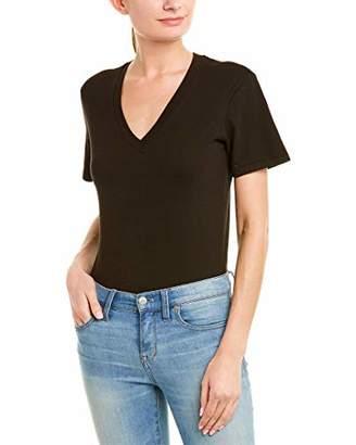 Stateside Women's Brushed Heavy Jersey Short Sleeve V-Neck Body Suit