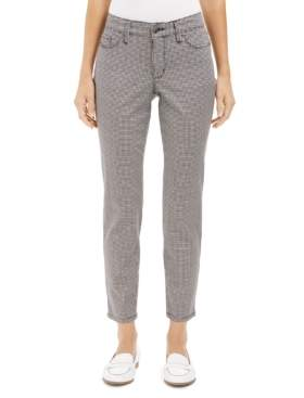 Charter Club Houndstooth Skinny Tummy-Control Jeans, Created For Macy's