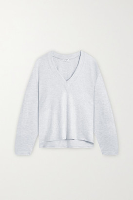 Leset Lori Brushed Stretch-jersey Top - Light gray