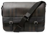 Burberry Large Smoked Check Messenger Bag