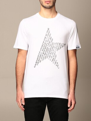 Golden Goose Cotton T-shirt With Logoed Star