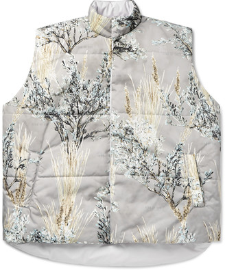 Fear Of God Oversized Reversible Quilted Printed Nylon Gilet