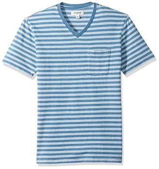 Goodthreads Men's Short-Sleeve Indigo V-Neck Pocket T-Shirt, Light Triple Stripe, XXX-Large