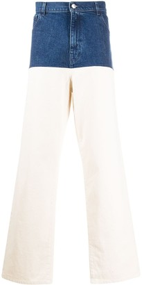 Raf Simons Wide-Leg Panelled Jeans