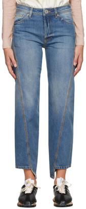 Lanvin Blue Twisted Jeans
