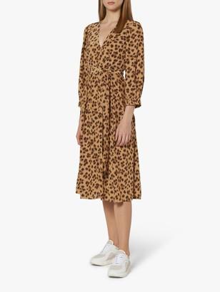 LK Bennett Roman Wrap Dress, Animal