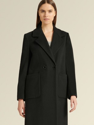 DKNY Cashmere Wool Blend Long Coat