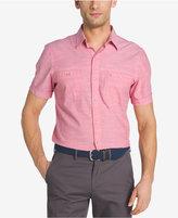 Izod Men's Dual-Pocket Chambray Cotton Shirt