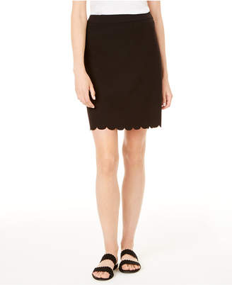 Maison Jules Scallop-Hem Pencil Skirt
