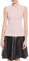 Creatures of the Wind Ribbed Sleeveless Sweater, Pink