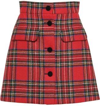 Miu Miu Plaid Shetland Skirt