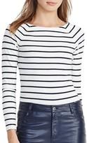 Lauren Ralph Lauren Stripe Stretch Cotton Top