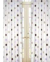 JoJo Designs Sweet Purple and Brown Mod Dots Window Treatment Panels -Set of 2