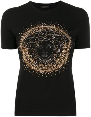 Versace Medusa head studded T-shirt
